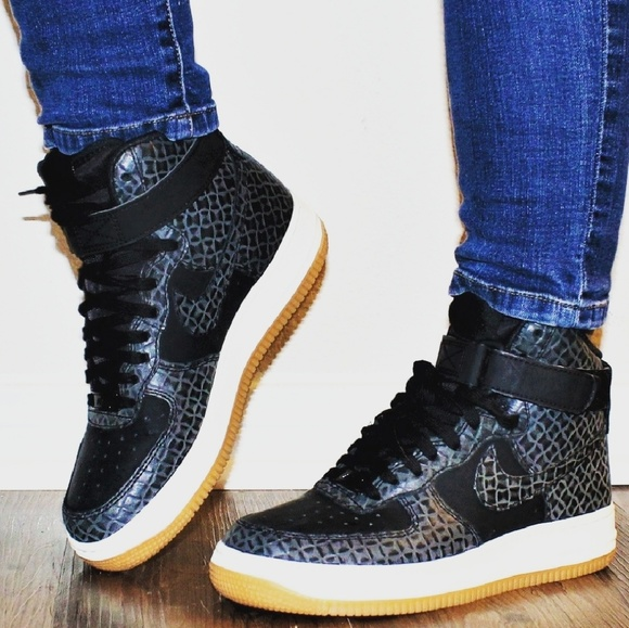 Nike Shoes Air Force 1 High Croc Black Gum Poshmark
